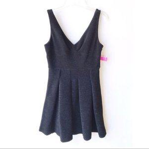 Betsey Johnson Black Sparkly V neck Dress NWT 10
